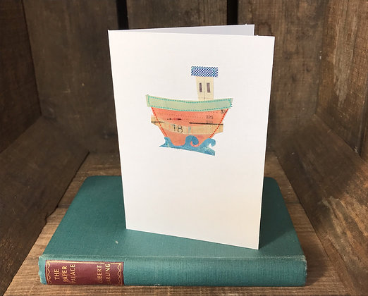 Boat Greeting Card (Pink)