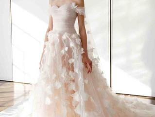 Las flores en 3D literalmente se saldrán en los vestidos de novia.