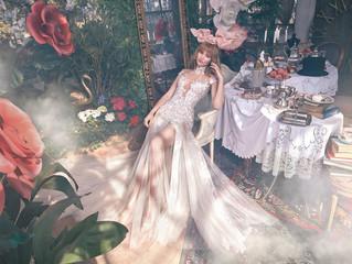 Por fin llegan los vestidos de novia de Alicia en el país de las maravillas de Galia Lahav