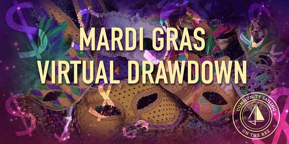 "2021 JYC Community Sailing Foundation Virtual Mardi Gras Drawdown ""Race for the Cash"""