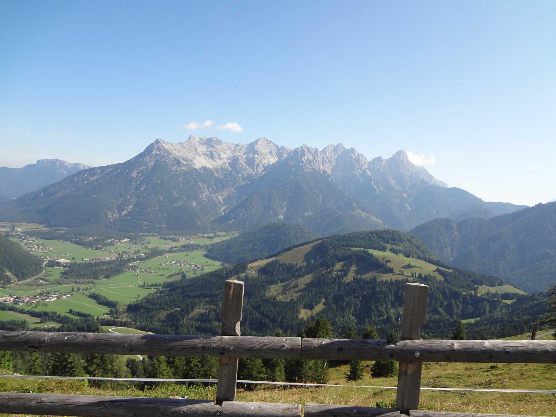 Vandra utan packning i Österrike