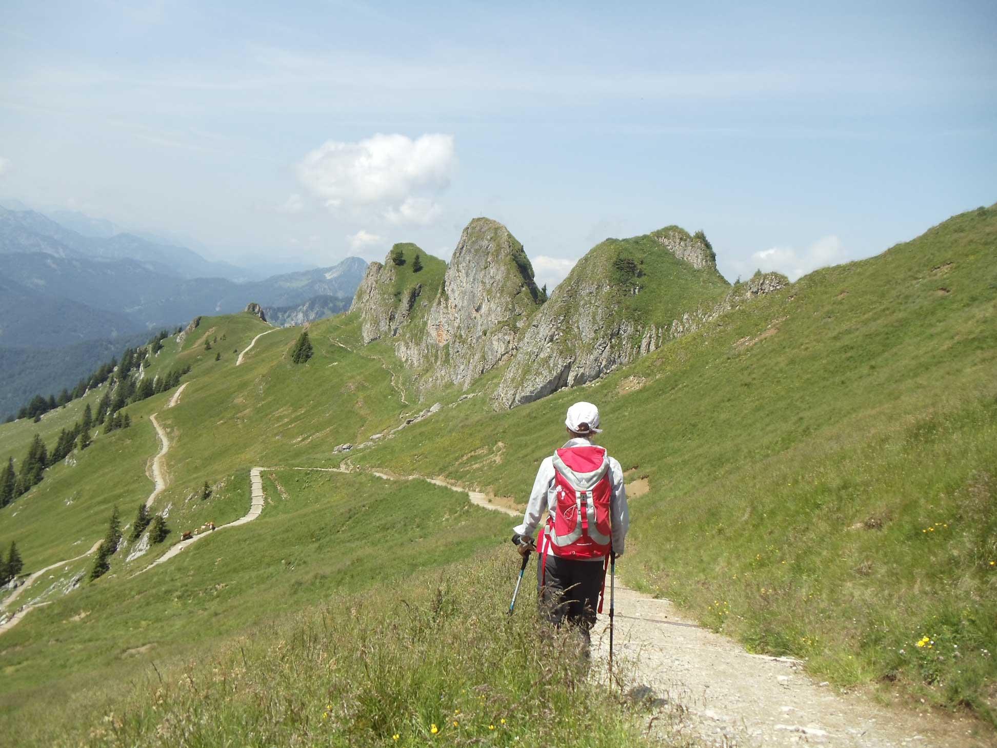 Bayerische-Alpen_Rotwand_Wanderer_1