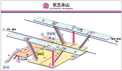 京王永山駅構内図