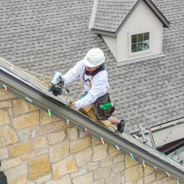 roofing contractors project at zipline i