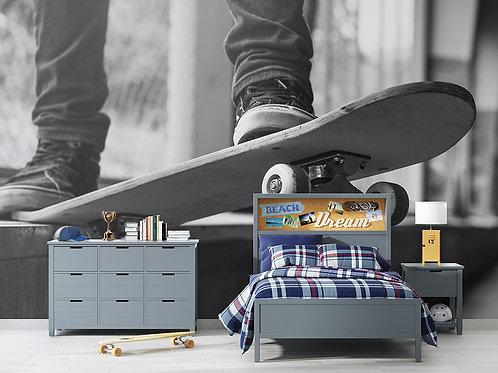 Skate noir et blanc