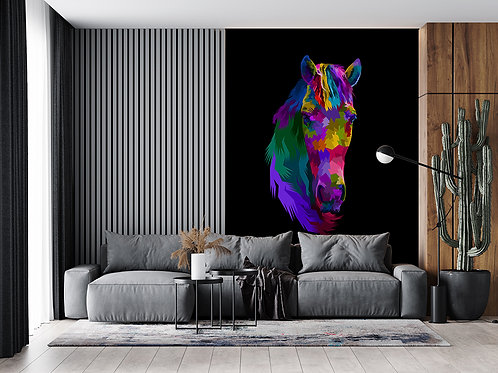 Cheval en portrait