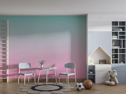 Dégradé rose-turquoise pastel