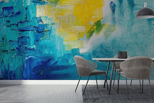 Peinture Bleu et Jaune