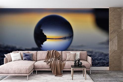 Paysage dans la sphère de verre 1