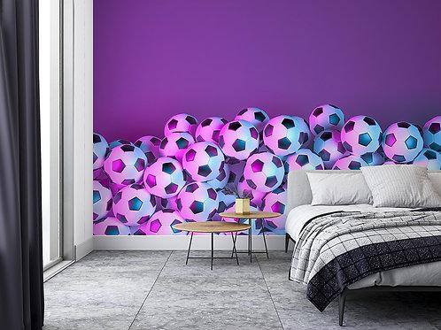 Ballon de Foot motifs coloré