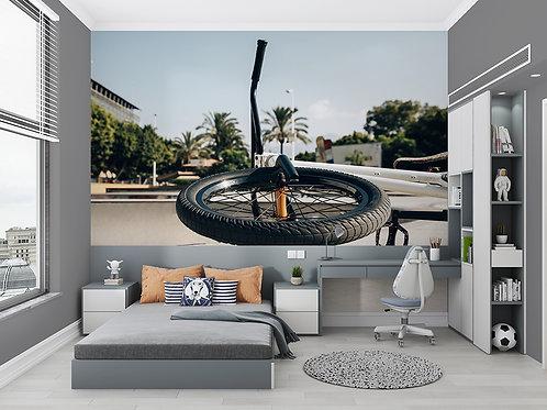 Vélo gros plan sur la roue
