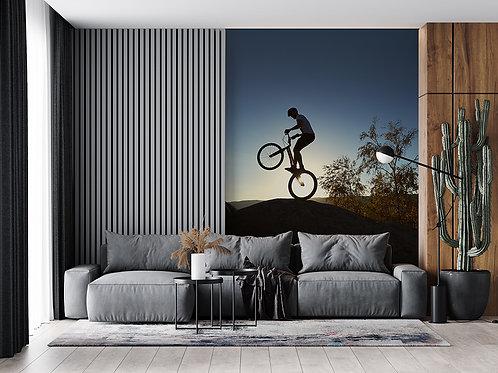 Vélo sur le soleil