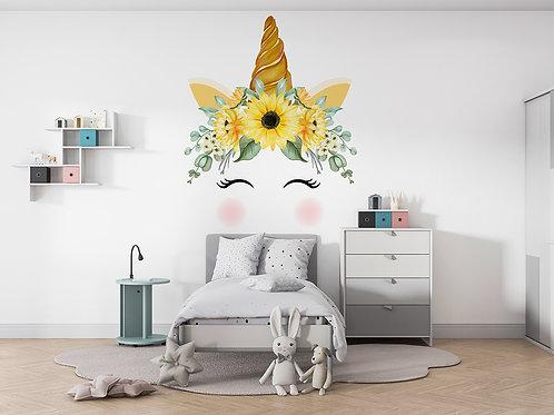 Licorne aquarelle jaune