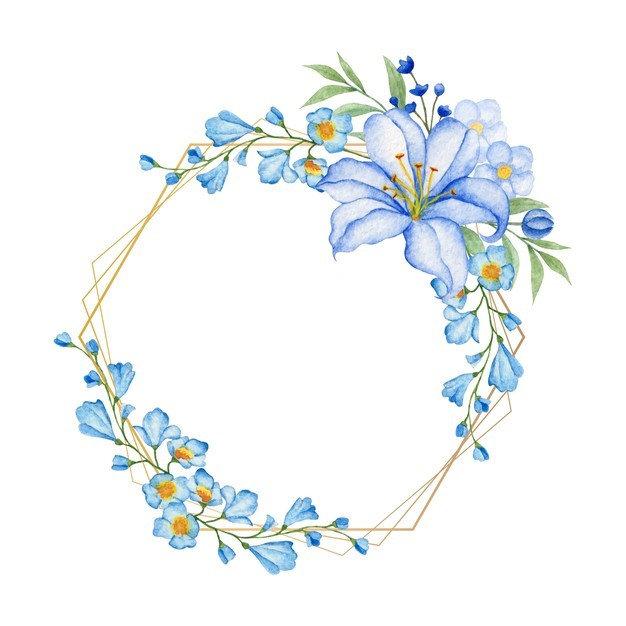 elegante-marco-poligonal-dorado-flores-a