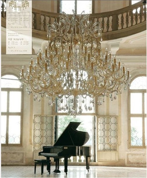 Chandelier's and Grand Pianos go together like the moon and the stars...