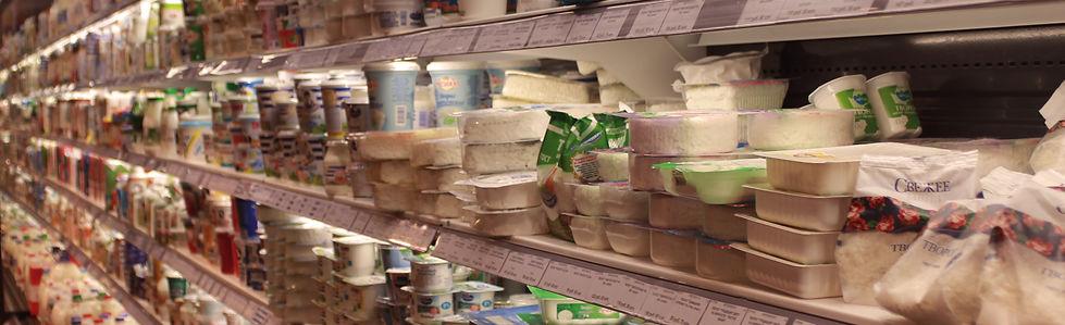 Молочная продукция в магазине Зеленая Околица Раменское