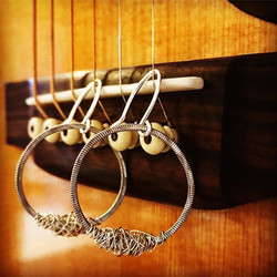 petite hoops with tangled strings