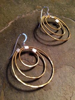 looping string earrings