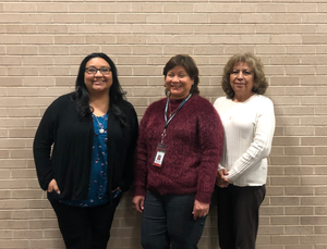 Left to Right: Samantha Gonzales - President, Margaret Zarate - Secretary, Lupe Costilla - Treasurer, Stephanie Franklin (Not in picture) - Vice President