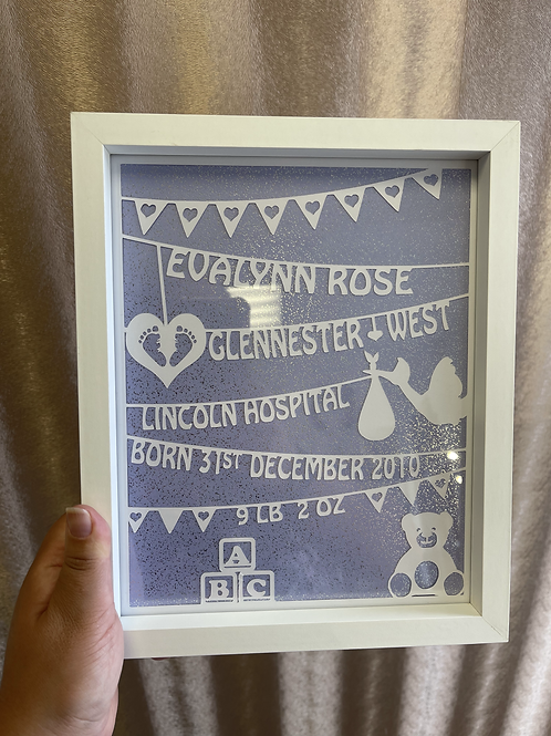 Framed Papercut - Personalised Any Occasion