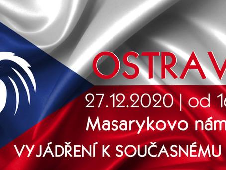 Pozvánka: Protestní setkání k protivládním opatřením – 27. 12. 2020 od 16hod OSTRAVA
