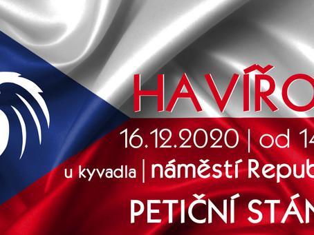 Pozvánka: Petiční akce Občanského hnutí – 16. 12. 2020 od 14:00