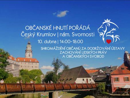 Pozvánka: Shromáždění občanů za dodržování Ústavy, zachování lidských práv – 10. 4. 2021 od 14:00