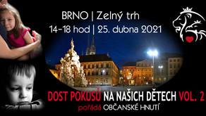 Pozvánka: Dost pokusům na našich dětech! VOL.2 – 25. 4. 2021 od 14hod - BRNO
