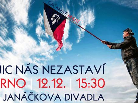Pozvánka: Demonstrace za pravdu a svobodu! – 12. 12. 2020 od 15:30 BRNO