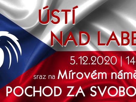 Pozvánka: Pochod za svobodu – 5. 12. 2020 ve 14 hod.