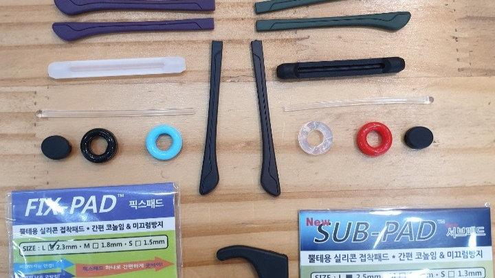 Various Eye Glasses ear hooks tip eyeglasses silicone grip anti slip temple hold