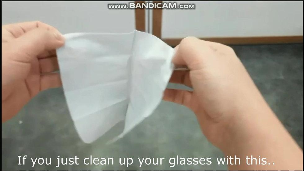 Anti-fogging glasses cloth