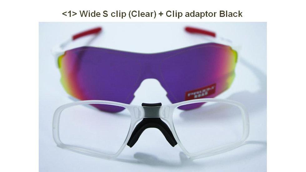 Oakley EV Zero clear colored Wide S clip + clip adaptor