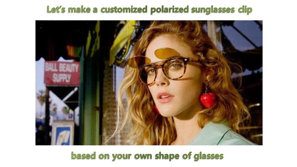 Customized sunglasses clip with polarized lenses