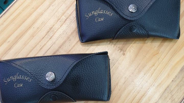 Glasses or sunglasses case which could be installed on belt (High-level)