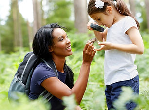 teacher and girl in woods iStock_0000330