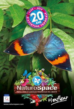 Campagne d'affiche et d'annonces presse pour le Naturospace d'Honfleur