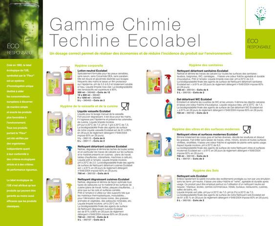 Plaquette Ecolabel pour le Groupe PLG