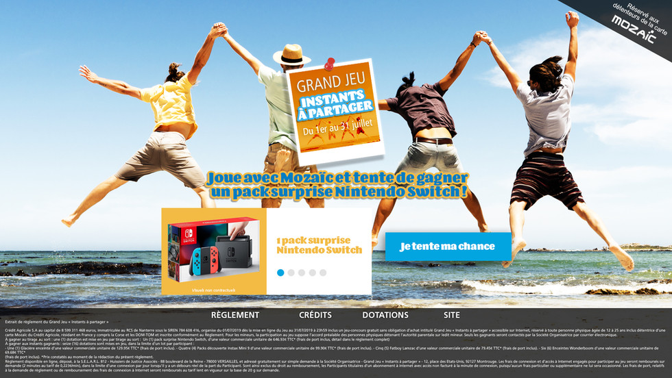 Home page Grand Jeu concours