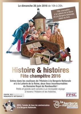 Création d'un tract grand public en corrélation avec les évenements de la Bergerie Nationale de Rambouillet