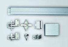 plastic lainate bathroom stall hardware - bobrick