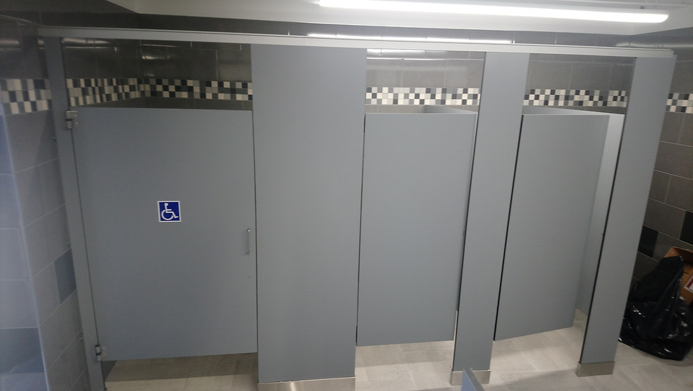 New toilet partitions installed in toronto