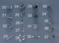 pastic laminate toilet partition hardware - metpar