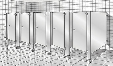 floor anchored toilet partition