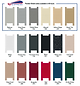Dur-A-Tex Toilet Partition colour Selection