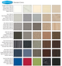 Bobrick Plastic laminate colour chart