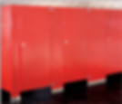 Red Bathroom Stall (duratex)