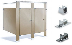 standard metal stall hardware