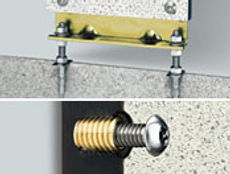 toilet partition anchoring system