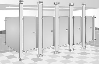 floor to ceiling bathroom partition